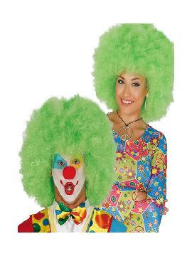 peluca gigante afro verde