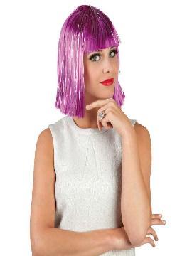 peluca glamour media melena purpura