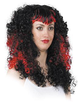 peluca grande de rizo largo bicolor varios colores