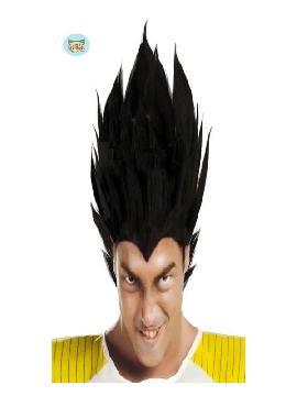 peluca guerrero vegeta negra adulto