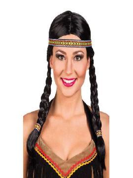 peluca india kewanee con trenzas
