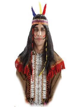 peluca de indio con trenzas