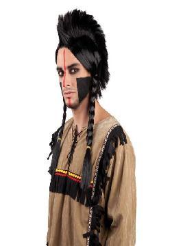 peluca indio con cresta