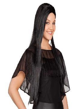 peluca larga negra