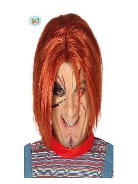 peluca muñeco chucky asesino en caja