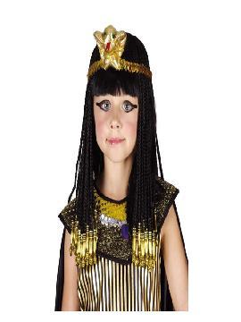 peluca negra de cleopatra niña