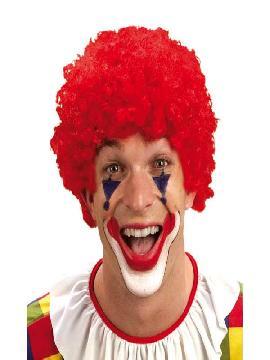peluca de payaso rizada roja