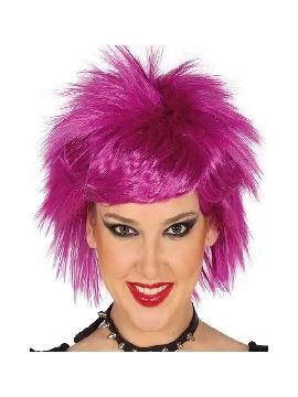 peluca punk lila