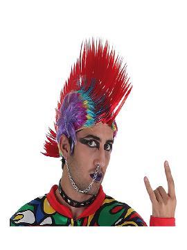 peluca punk multicolor