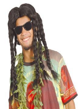 peluca rastafari con rastas