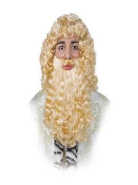 peluca rizada para rey mago varios colores
