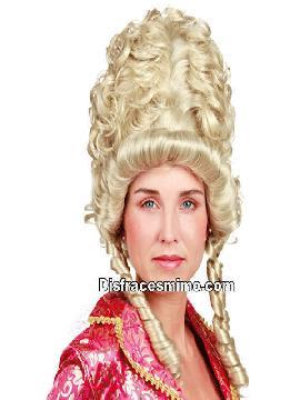 peluca de epoca rococo rubia