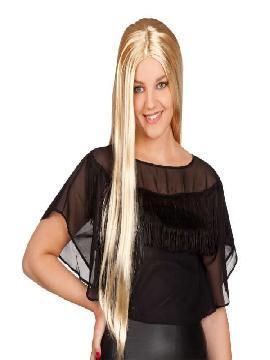 peluca rubia larga