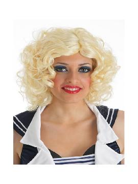 peluca rubia marilyn con bucles