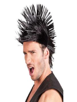 peluca corta spiky negro