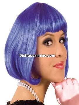 peluca morada corta de cabaret
