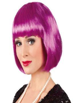 peluca violeta flequillo cabaret