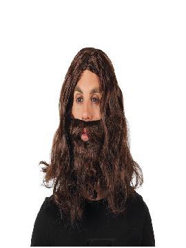 peluca y barba morena rey mago
