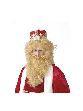peluca y barba rubia rey mago