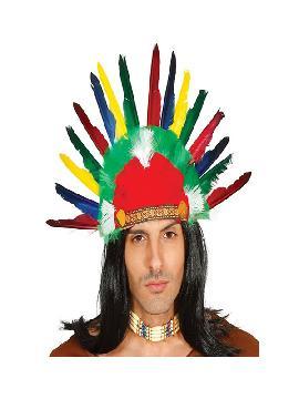 penacho de indio con plumas adulto