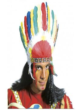 penacho indio multicolor adulto