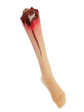 pierna de plastico para halloween