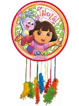 piñata  mediana de dora la exploradora para niñas