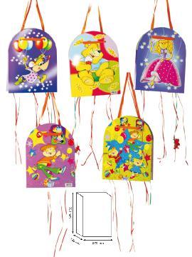 5 piñatas grande de cubo cuentos 27X18X35 cm