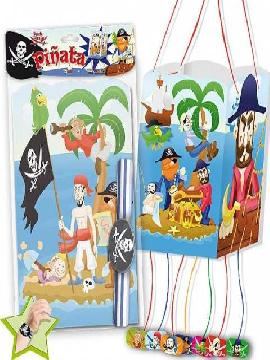 piñata piratas con pulsera surtida