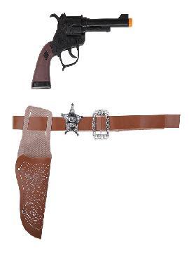 pistola con cartuchera y cinturon 23cm