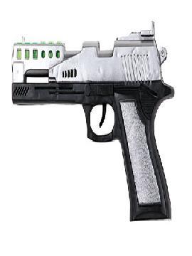 pistola de policia plastico hecha chispas 21x13 cm
