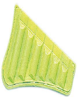 72 murgas de plastico amarillas para carrozas