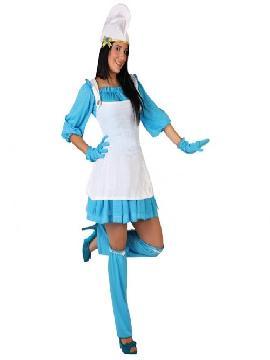 disfraz de pitufa azul para mujer