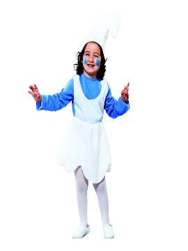 disfraz de pitufa azul cuento niña