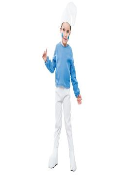 disfraz de pitufo azul economico niños infantiles.Este modelo es ideal para representaciones en el colegio o fiestas temáticas.Este disfraz es ideal para tus fiestas temáticas de disfraces cuentos populares,famosos y musicos para niños infantiles.