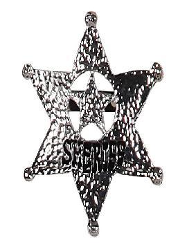 placa de sheriff del oeste