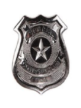 placa metal policia sheriff 6x5 cm