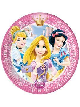 platos las princesas 8 unidades para cumpleaños
