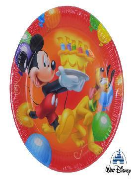 platos mickey mouse 8 unidades para cumpleaños