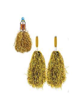 pompones dorados 16x12 cm