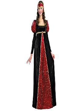 disfraz de princesa medieval adulto para mujer. Con este elegante vestido podrás sentirte como una auténtica princesa en tus fiestas temáticas, representaciones, actuaciones, Carnaval, etc.Este disfraz es ideal para tus fiestas temáticas de disfraces epoca y medievales para la edad media de mujer adultos.