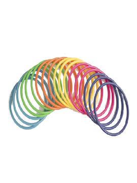 pulseras 18 unidades colores surtidos