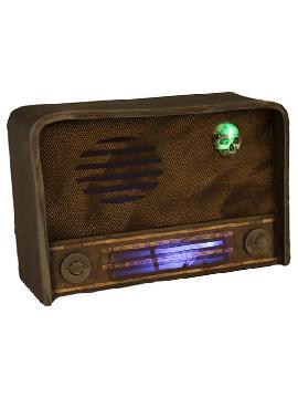 radio de terror con luz y sonido de 31 cm