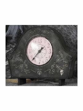 reloj antiguo con luz y sonido 26x20 cms