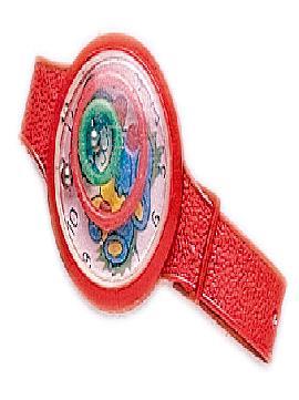 72 relojes de plastico rojos para carrozas