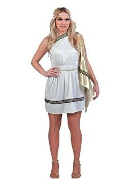 disfraz de romana adulto para mujer. Es perfecto para trasladarte a la antigua Roma o para convertirte en una auténtica Diosa del Olimpo Griego en Fiestas de Disfraces Temáticas o Carnaval.Este disfraz es ideal para tus fiestas temáticas de disfraces romanos y egipcios para mujer adultos.