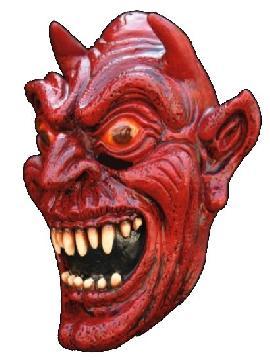 mascara de satan para adulto