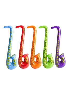 saxofon hinchable colores surtidos 83cm