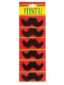 set de 6 bigotes mexicanos