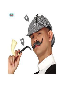 set de detective con gorra y pipa
